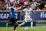 Bayern Munich Midfielder Renato Sanches (R) plays against FC Internazionale Forward Ivan Perisic (L) during the International Champions Cup match between FC Bayern and FC Internazionale at National Stadium on July 27, 2017 in Singapore. Photo by Marcio Rodrigo Machado / Power Sport Images