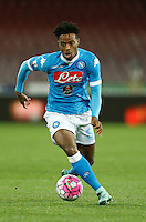 Nathaniel Chalobah during the  italian serie a soccer match,between SSC Napoli and Chievo Verona      at  the San  Paolo   stadium in Naples  Italy , March 06, 2016<br /> Napoli won  3 - 1