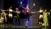 The Nutcracker - Scottish Ballet - at Glasgow's Theatre Royal - Grandfather (Victor Zarallo) dances with the maids - The ballet opens this weekend in Glasgow before going on tour around the UK until February - picture by Donald MacLeod - 07.12.12 - 07702 319 738 - clanmacleod@btinternet.com - www.donald-macleod.com