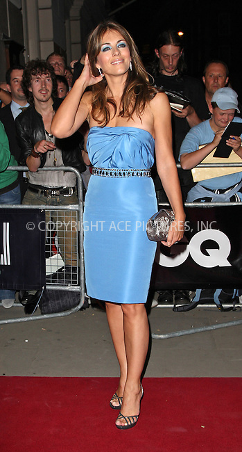 WWW.ACEPIXS.COM . . . . .  ..... . . . . US SALES ONLY . . . . .....September 8 2009, London....Liz Hurley at the GQ Men Of The Year Awards on September 8 2009  in London....Please byline: FAMOUS-ACE PICTURES... . . . .  ....Ace Pictures, Inc:  ..tel: (212) 243 8787 or (646) 769 0430..e-mail: info@acepixs.com..web: http://www.acepixs.com
