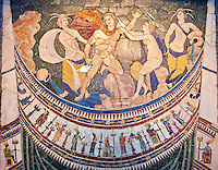 4th Century AD Roman Opus Sectile Mosaic depicting nymphs from the basilica de Giunio Basso .  Museo Nazionale Romano ( National Roman Museum), Rome, Italy.