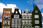 Netherlands: Amsterdam.  Architecture, canal houses.   Photo #: duamst101.  Photo copyright Lee Foster, 510/549-2202, www.fostertravel.com, lee@fostertravel.com