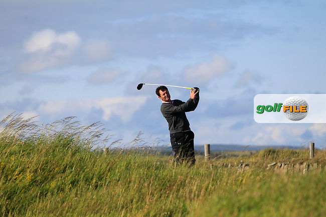 Peter Sheehan (Ballybunion) on the 17th tee during Round 1 of the South of Ireland Amateur Open Championship at LaHinch Golf Club on Wednesday 22nd July 2015.<br /> Picture:  Golffile | Thos Caffrey