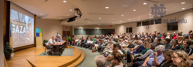 Aug. 28, 2014; Kroc Institute panel discussion on Gaza<br /> <br /> Photo by Matt Cashore/University of Notre Dame