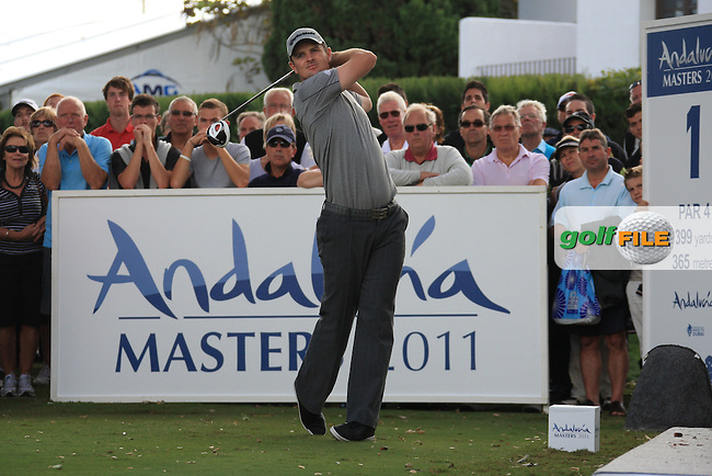 Justin Rose (ENG) during the 1st day at the  Andalucía Masters at Club de Golf Valderrama, Sotogrande, Spain. .Picture Fran Caffrey www.golffile.ie