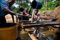 Galamsay (illegal) miners and their shaft that is on the land of Ashanti Gold.  Also photos in next village Dunkwa where a 13-year-old child has to stand on a submerged log in water washing out mine tailings to sift gold...Contact for this area is Eric Adjea  peteropipper@yahoo.com.+233 24 631 3717..Fixer is:.Kofi Adu Dankwah (+233 24 474 9756)