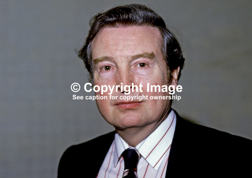 Peter Archer, MP, Labour Party, UK, N Ireland spokesman, 19840053PA2.<br />