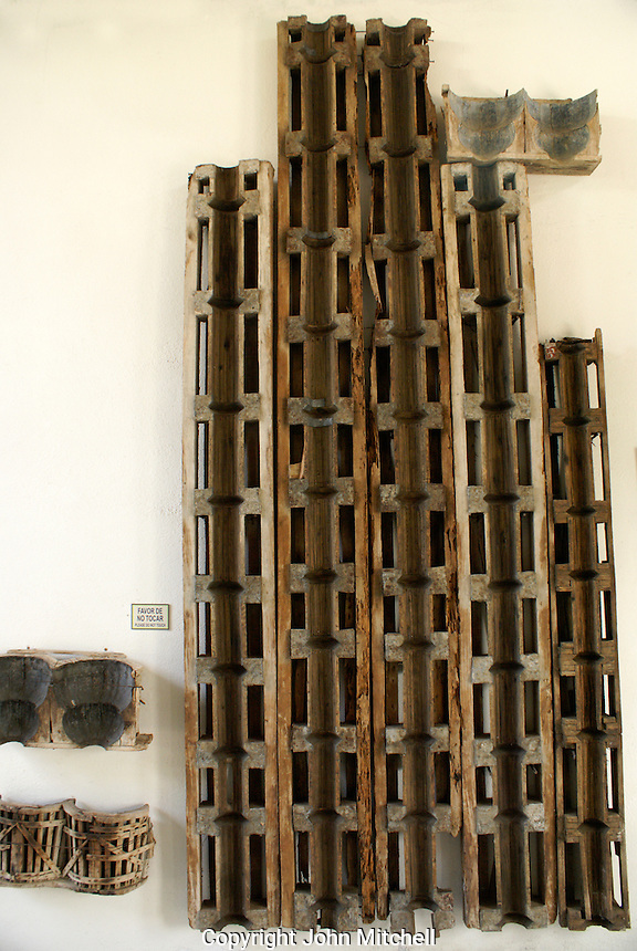 Original wooden forms used to make the concrete  surrealsit sculptures at las Pozas,  Edward James Museum  in Xilitla, San Luis Potosi state, Mexico