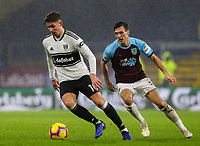 Fulham's Tom Cairney turns away from Burnley's Jack Cork<br /> <br /> Photographer Alex Dodd/CameraSport<br /> <br /> The Premier League - Burnley v Fulham - Saturday 12th January 2019 - Turf Moor - Burnley<br /> <br /> World Copyright © 2019 CameraSport. All rights reserved. 43 Linden Ave. Countesthorpe. Leicester. England. LE8 5PG - Tel: +44 (0) 116 277 4147 - admin@camerasport.com - www.camerasport.com