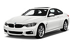 2019 BMW 4 series M Sport 2 Door Coupe angular front stock photos of front three quarter view