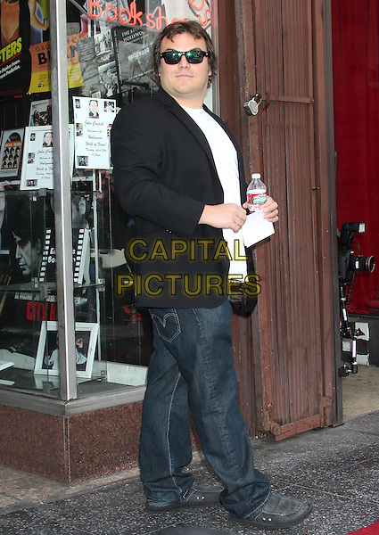 Jack Black.John Cusack Honored With A Star On The Hollywood Walk Of Fame, Hollywood, CA., USA..April 24th, 2012.full length black side sunglasses shades suit jacket jeans denim.CAP/ADM/RE.©Russ Elliot/AdMedia/Capital Pictures.
