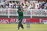 Babar Azam (Pakistan) pulls a short delivery through mid wicket during Pakistan vs Bangladesh, ICC World Cup Cricket at Lord's Cricket Ground on 5th July 2019