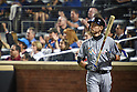 Ichiro Suzuki (Marlins),<br /> SEPTEMBER 14, 2015 - MLB :<br /> Ichiro Suzuki of the Miami Marlins on deck circle in the second inning during the Major League Baseball game against the New York Mets at Citi Field in Flushing, New York, United States. (Photo by Hiroaki Yamaguchi/AFLO)