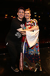 "Grey Henson and Brendon Stimson during the Actors' Equity Opening Night Gypsy Robe Ceremony honoring Brendon Stimson for ""Mean Girls"" at the August Wilson Theatre Theatre on April 8, 2018 in New York City."