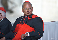 Cardinale dello Sri Lanka Albert Malcolm Ranjith Patabendige Don.Pope Francis during of a weekly general audience at St Peter's square in Vatican, Wednesday, October. 10, 2018.