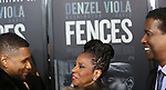 Usher, Pauletta Washington and Denzel Washington attends the 'Fences' New York screening at Rose Theater, Jazz at Lincoln Center on December 19, 2016 in New York City.