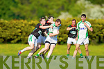 Milltown-Castlemaine in action against  Saint Brendans in the First Round of the Kerry Senior Football Championship at Milltown on Sunday.