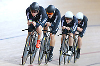 Pieter Bulling out front of the team pursuit during training, Avantidrome, Home of Cycling, Cambridge, New Zealand, Friday, March 17, 2017. Mandatory Credit: © Dianne Manson/CyclingNZ  **NO ARCHIVING**