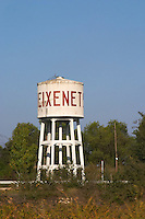 Water tower with Freixenet text. Sant Sadurni d'Anoia, San Sadurni de Noya. Spain.