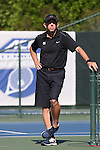 24 April 2016: UNC head coach Brian Kalbas. The University of North Carolina Tar Heels played the University of Miami Hurricanes at the Cary Tennis Center in Cary, North Carolina in the Atlantic Coast Conference Women's Tennis Tournament Championship. North Carolina won the match 4-2.