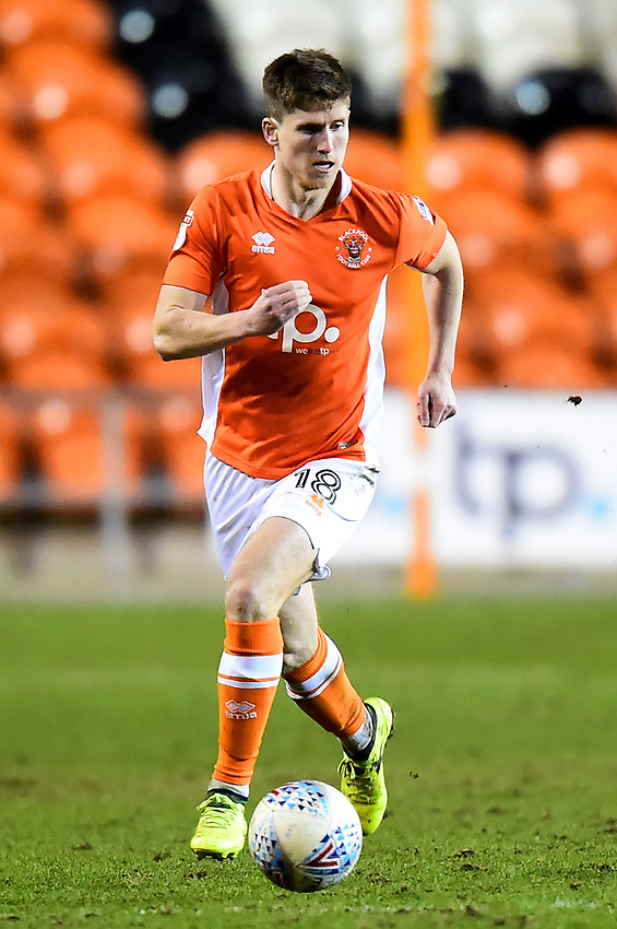 Blackpool's Daniel Philliskirk in action<br /> <br /> Photographer Richard Martin-Roberts/CameraSport<br /> <br /> The EFL Sky Bet League One - Blackpool v Charlton Athletic - Tuesday 13th March 2018 - Bloomfield Road - Blackpool<br /> <br /> World Copyright &not;&copy; 2018 CameraSport. All rights reserved. 43 Linden Ave. Countesthorpe. Leicester. England. LE8 5PG - Tel: +44 (0) 116 277 4147 - admin@camerasport.com - www.camerasport.com