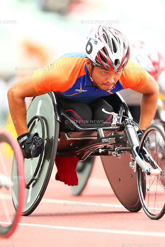Sho Watanabe,<br /> JULY 18, 2015 - Athletics :<br /> Japan Para Athletics Championships,<br /> Men's T54 800m Qualification<br /> at Yanmar Stadium Nagai, Osaka, Japan. <br /> (Photo by Shingo Ito/AFLO SPORT)