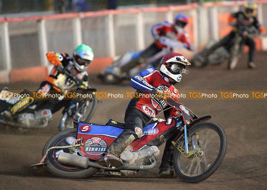 Heat 7 - Shields (red), Hamill, Neath, Pijper - Lakeside Hammers vs Wolverhampton Wolves - Elite League 'A' Fixture at Arena Essex - 11/05/07 - MANDATORY CREDIT: Gavin Ellis/TGSPHOTO - IMAGES USED WILL BE INVOICED AT STANDARD RATES..