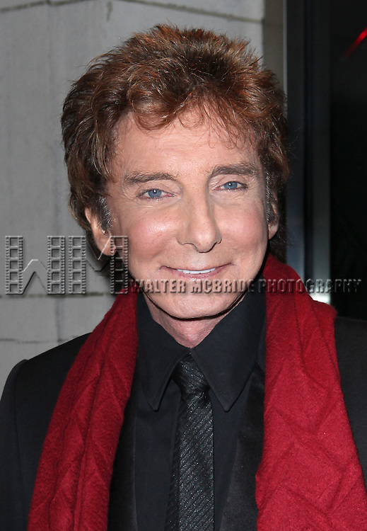 Barry Manilow arriving at the Opening Night Party for 'Manilow on Broadway'  at The Copacabana in New York City on 1/29/2013