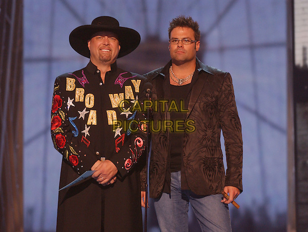 15 November 2005 - New York, New York - Eddie Montgomery and Troy Gentry of 'Montgomery Gentry.' 39th Annual CMA Awards held at Madison Square Garden. Photo Credit: Laura Farr/AdMedia