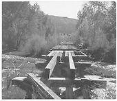 Wrecked trestle.<br /> RGS