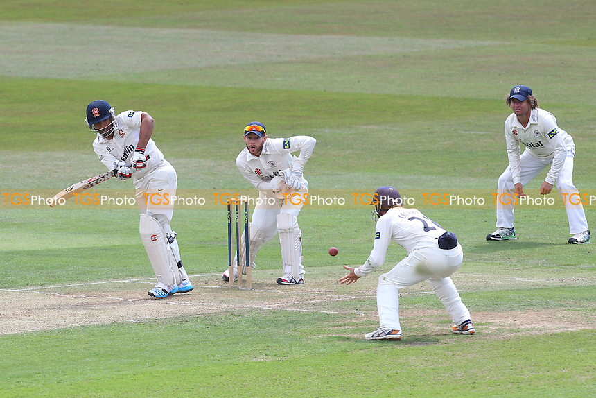 Ravi Bopara of Essex works the ball through the close fielders - Essex CCC vs Gloucestershire CCC - LV County Championship Division Two Cricket at the Ford County Ground, Chelmsford - 30/06/14 - MANDATORY CREDIT: Gavin Ellis/TGSPHOTO - Self billing applies where appropriate - contact@tgsphoto.co.uk - NO UNPAID USE