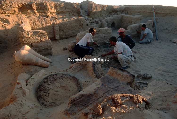 Excavation of royal tomb with cart; Oxus Civilization; Turkmenistan; Gonor Depe site; Victor Sarianidi; Archaeology; BMAC complex