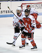 Steve Silva (Northeastern - 17), Chase Polacek (RPI - 21) - The visiting Rensselaer Polytechnic Institute Engineers tied their host, the Northeastern University Huskies, 2-2 (OT) on Friday, October 15, 2010, at Matthews Arena in Boston, MA.