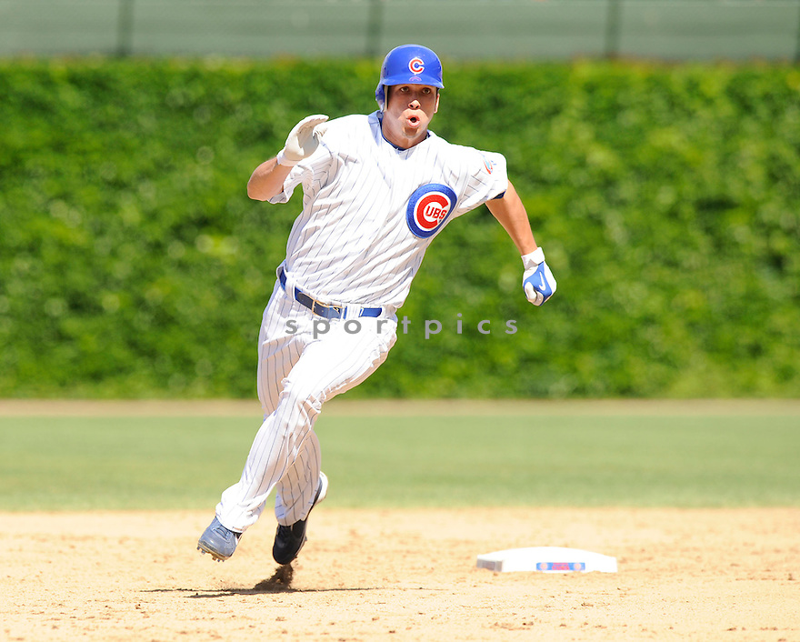 TYLER COLVIN, of the Chicago Cubs, in action during the Cubs game against the Los Angeles Dodgers at Wrigley Field in Chicago, IL on May 27, 2010.  ..The Cubs won the game 1-0...