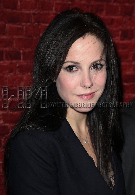 Mary Louise Parker.arriving for the Opening Night Performance of the Broadway Revival of 'Godspell' at Circle in the Square Theatre in New York City.