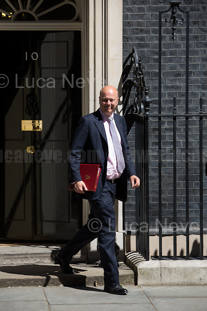 Chris Grayling MP (Secretary of State for Transport).<br /> <br /> London, 19/07/2016. First Cabinet meeting at 10 Downing Street (after the EU Referendum and consequent David Cameron's resignation) for the new Prime Minister Theresa May and her newly formed Conservative Government.<br /> <br /> For more information about the Cabinet Ministers: https://www.gov.uk/government/ministers