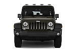 Car photography straight front view of a 2016 JEEP Wrangler-Unlimited Rubicon 5 Door SUV Front View