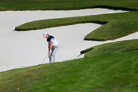 Brett Rumford (AUS) second shot on the 16th fairway bunker during the 3rd round at the WGC HSBC Champions 2018, Sheshan Golf CLub, Shanghai, China. 27/10/2018.<br /> Picture Fran Caffrey / Golffile.ie<br /> <br /> All photo usage must carry mandatory copyright credit (&copy; Golffile | Fran Caffrey)