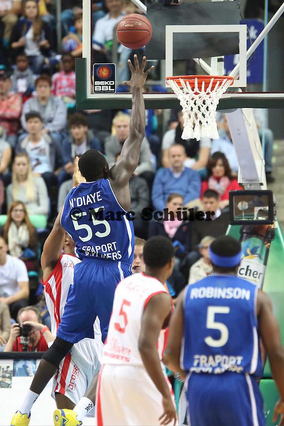 Aziz N'Diaye (Skyliners) - Fraport Skyliners vs. s.Oliver Baskets Würzburg, Fraport Arena Frankfurt