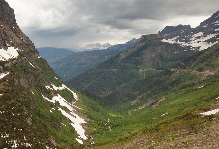 Sometimes the Going to the Sun road in Glacier National Park, Montana leads into the heart of a rainstorm.