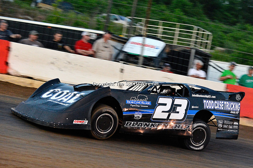 May 17, 2013; 8:15:27 PM; Locus Grove, AR., USA; 2nd Annual ?Bad Boy 98? sponsored by Bad Boy Mowers will pay racers $20,000 win at the Batesville Motor Speedway for Lucas Oil Late Model Series.  Mandatory Credit: (thesportswire.net)