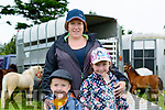 Sarah O'Brien from Killorglin with her children Jamie & Lucy  at the 11th Annual Kerry Bog Pony Show at The Red Fox, Ballintleave, Glenbeigh on Sunday