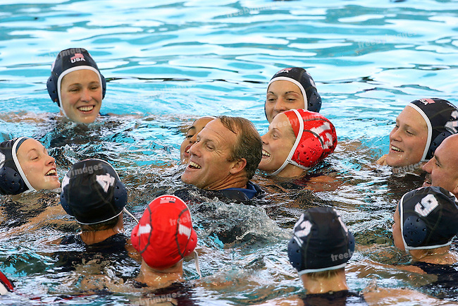 12th Fina World Swimming Championships Melbourne, 2007, Waterpolo gold Medal game between Australia and USA 31st March  USA won the gold  Celebration all round for the US team