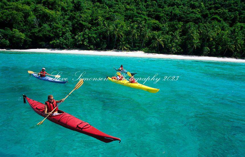 Kayakers<br /> Salomon Beach<br /> Virgin Islands National Park<br /> St. John, U.S. Virgin Islands