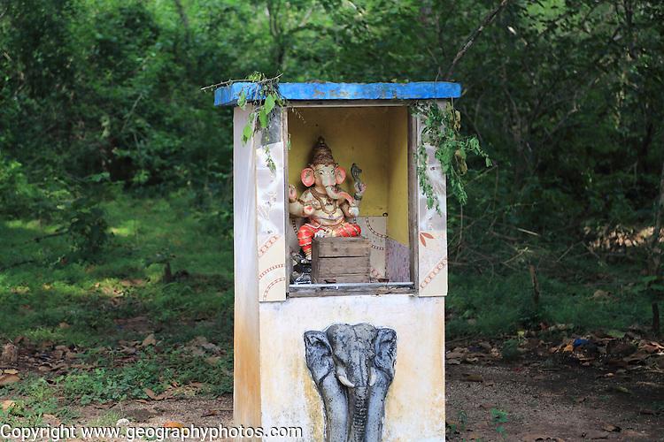 Roadside Hindu shrine near Sigiriya, Central Province, Sri Lanka, Asia