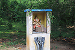 Roadside Hindu shrine near Sigiriya, Central Province, Sri Lanka, Asia