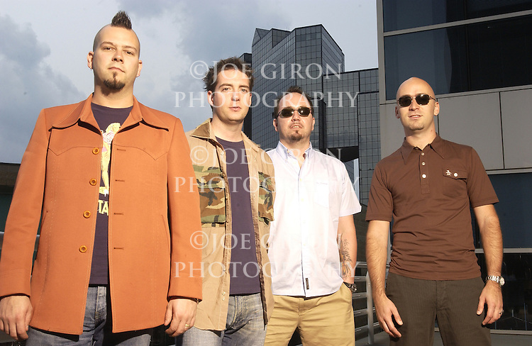 "MCA recording artists, Live, pose for a photo session in Atlanta, GA...The band will be releasing a new album, ""Birds of Prey,"" on May 20, 2003.  This is the bands' sixth studio album."