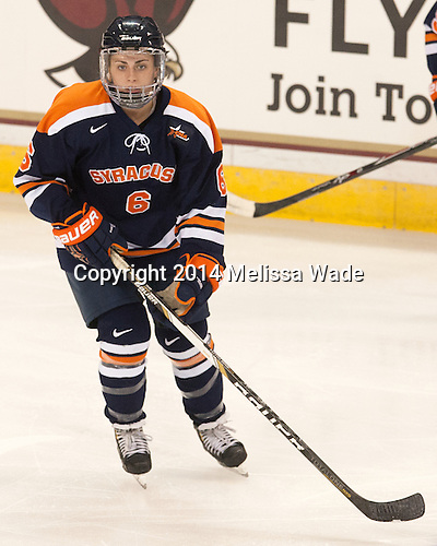 Danielle Leslie (SU - 6) - The Boston College Eagles defeated the visiting Syracuse University Orange 10-2 on Saturday, October 4, 2014, at Kelley Rink in Conte Forum in Chestnut Hill, Massachusetts.