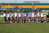 Rochester, NY - Friday June 24, 2016: Boston Breakers Starting XI prior to a regular season National Women's Soccer League (NWSL) match between the Western New York Flash and the Boston Breakers at Rochester Rhinos Stadium.