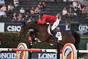 28th September 2017, Real Club de Polo de Barcelona, Barcelona, Spain; Longines FEI Nations Cup, Jumping Final; Lauren HOUGH  (USA)riding Ohlala during the first round of the Nations Cup